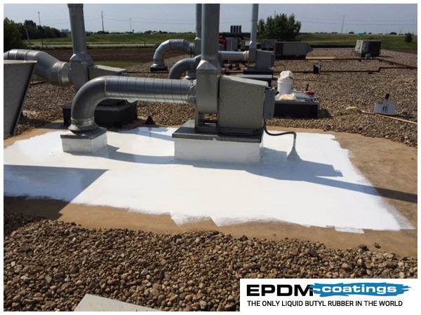 Liquid Epdm Rubber Liquid Roof Application On Roof